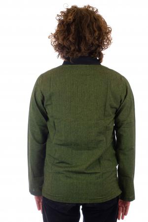 Hanorac cu print - OM - Verde SHST-O2 [2]