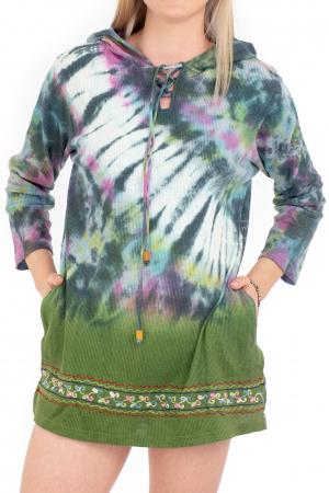 Hanorac lejer verde - Tie-Dye [0]