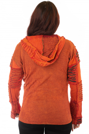 Hanorac portocaliu inchis razor cut1