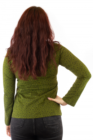 Bluza maneca lunga verde cu mandale BG-6012