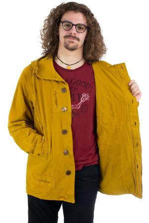 Jacheta barbateasca din bumbac - Mustar [4]