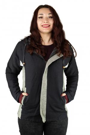 Jacheta din bumbac - Negru Gri [0]