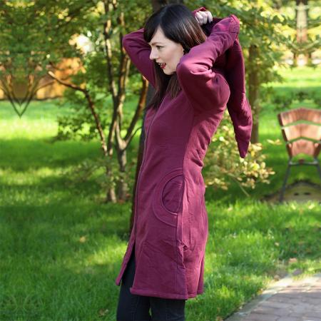 Jacheta de bumbac cu fermoar – BORDO2