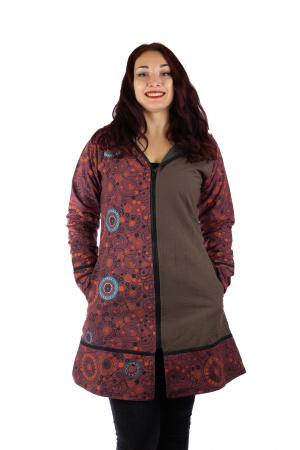 Jacheta de bumbac cu fermoar, print abstract – BORDO&MARO [0]