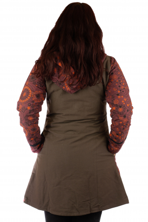 Jacheta de bumbac cu fermoar, print abstract – BORDO&MARO [3]