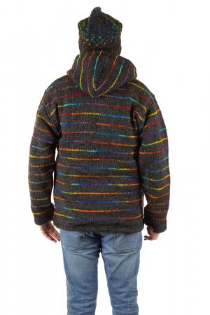 Jacheta de lana - Rainbow Lines8