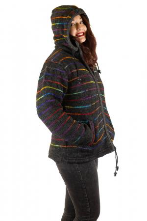 Jacheta de lana - Rainbow Lines4