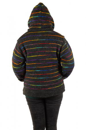 Jacheta de lana - Rainbow Lines5