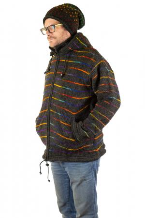 Jacheta de lana - Rainbow Lines7
