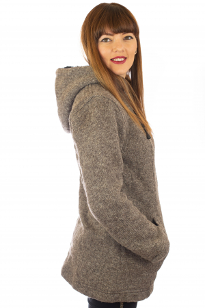 Jacheta de lana - Grey2
