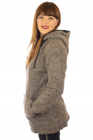Jacheta de lana - Grey1