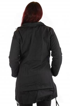 Jacheta de toamna cu broderie - Negru [2]
