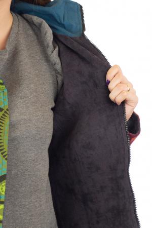 Jacheta de toamna cu broderie - Albastru [8]