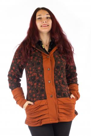 Jacheta de toamna din polar - Portocalie LONGJK040
