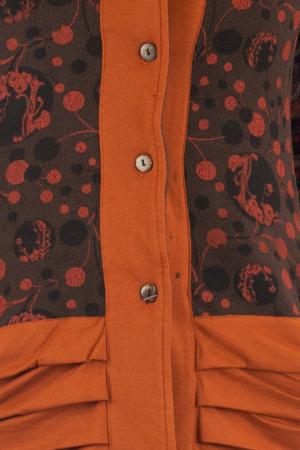 Jacheta de toamna din polar - Portocalie LONGJK041