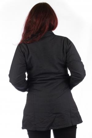 Jacheta de toamna din bumbac - Neagra [5]