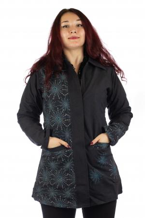 Jacheta de toamna din bumbac - Neagra [0]
