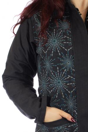 Jacheta de toamna din bumbac - Neagra [3]