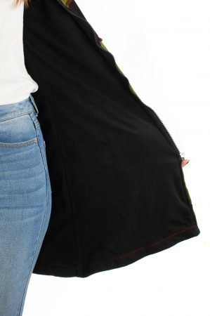 Jacheta de toamna cu print manual - Verde [3]