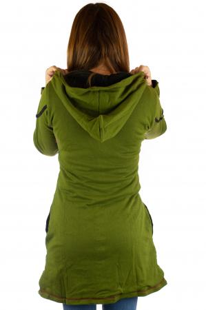 Jacheta de toamna cu print manual - Verde [5]