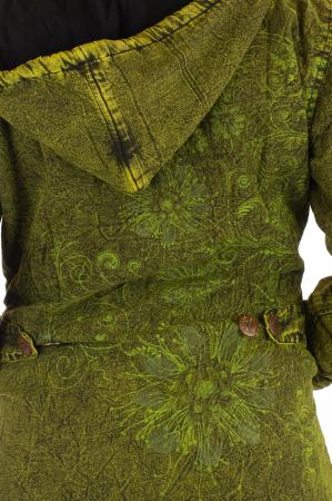 Jacheta de toamna cu print floral - Verde3