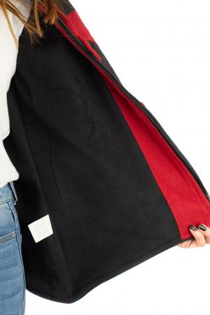 Jacheta in colturi din bumbac - Black & Red6