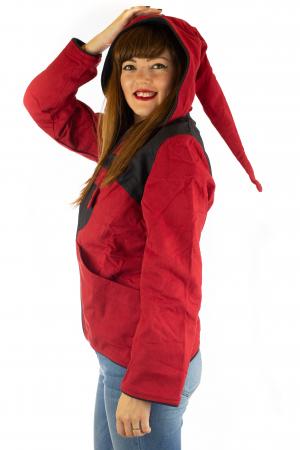 Jacheta in colturi din bumbac - Black & Red2