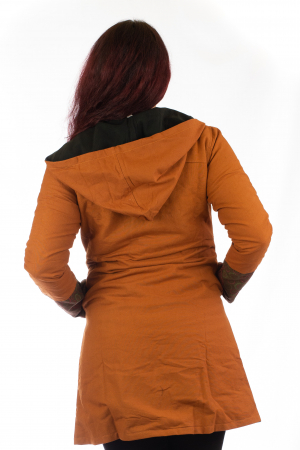 Jacheta de toamna din bumbac - Orange JKT083
