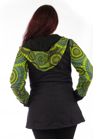 Jacheta de toamna din bumbac - Verde JKT014