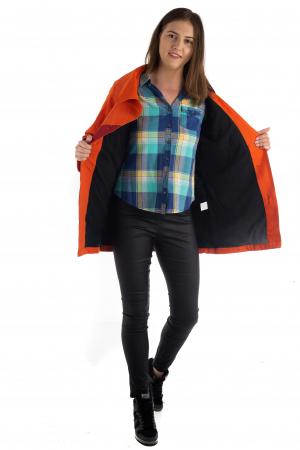 Jacheta de toamna cu nasturi - Portocalie [7]