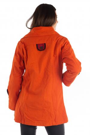 Jacheta de toamna cu nasturi - Portocalie [6]
