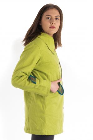 Jacheta de toamna cu nasturi - Portocalie [4]