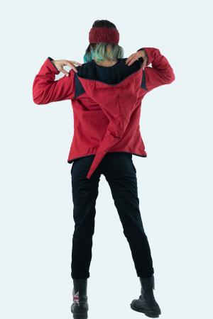 Jacheta de toamna din bumbac - Black & Red [11]