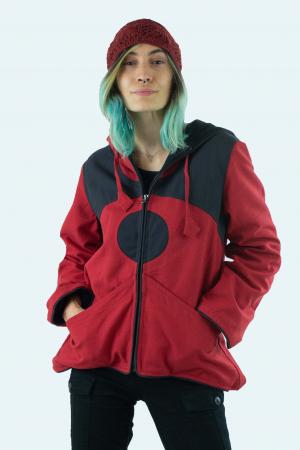 Jacheta de toamna din bumbac - Black & Red [0]