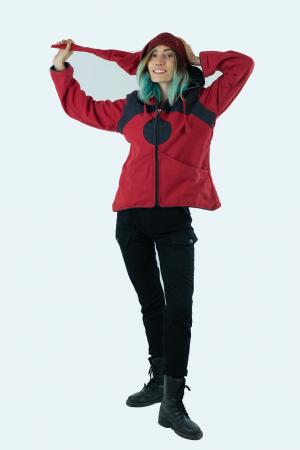 Jacheta de toamna din bumbac - Black & Red [3]