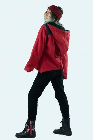 Jacheta de toamna din bumbac - Black & Red [5]