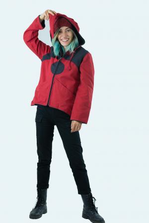 Jacheta de toamna din bumbac - Black & Red [1]