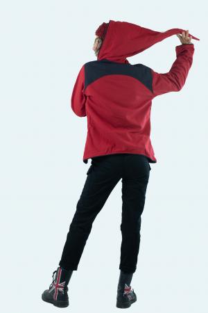 Jacheta de toamna din bumbac - Black & Red [13]
