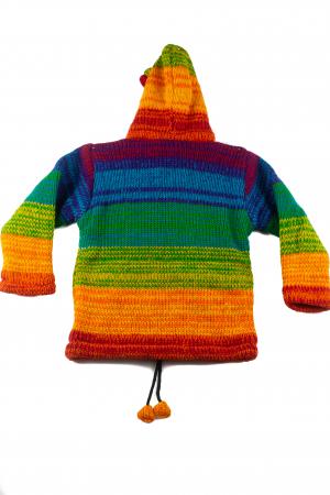 Jacheta pentru copii din lana - Rainbow2