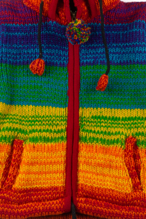 Jacheta pentru copii din lana - Rainbow1