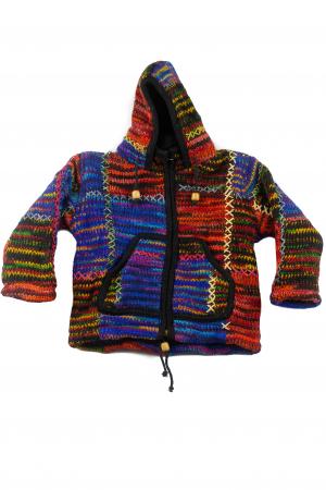 Jacheta pentru copii din lana - Color Bits0