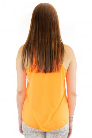 Maiou neon portocaliu subtire de vara - Twin Cats2