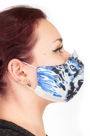 Masca bumbac cu filtru pentru adulti - Blue Wolf2