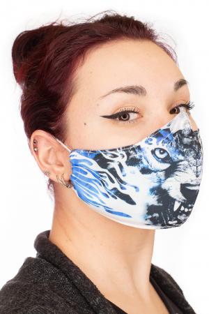 Masca bumbac cu filtru pentru adulti - Blue Wolf1