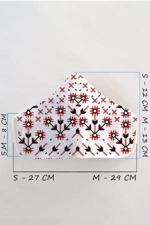 Masca bumbac cu filtru pentru adulti - Motiv Romanesc1