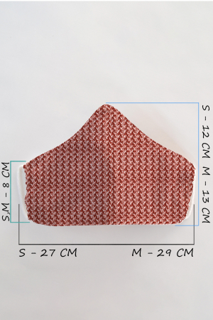 Masca bumbac cu filtru pentru adulti - Motiv 51