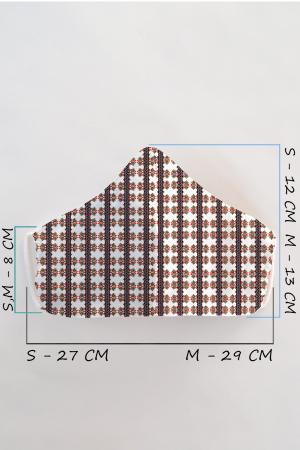 Masca bumbac cu filtru pentru adulti - Motiv 61
