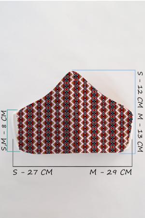 Masca bumbac cu filtru pentru adulti - Zig Zag1