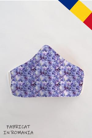 Masca bumbac cu filtru pentru adulti - Floare Liliac1