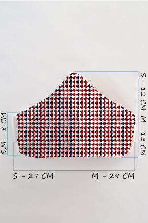 Masca bumbac cu filtru pentru adulti - Motiv 11